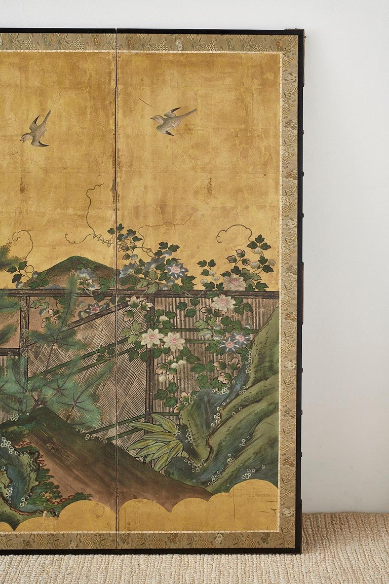 Japanese Edo Period Six-Panel Screen Summer Landscape For Sale 2