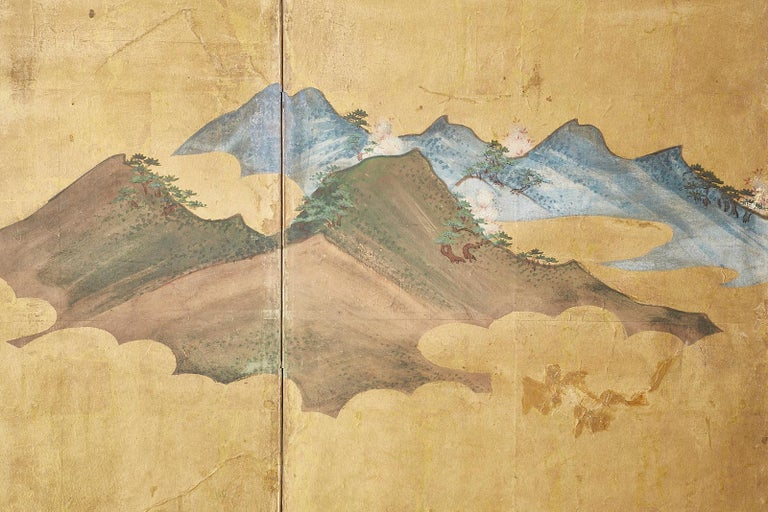 Japanese Edo Period Six-Panel Screen Summer Landscape For Sale 3