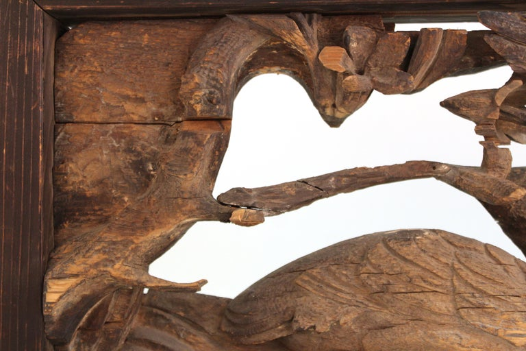 Japanese Edo Period Wood Temple Carving with Doves For Sale 3