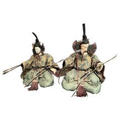 Japanese Edo Shinto Guardian Ningyo Dolls