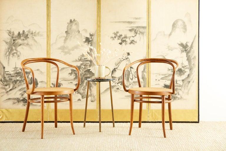 Japanese Edo Six-Panel Haboku Landscapes of Seasons For Sale 4