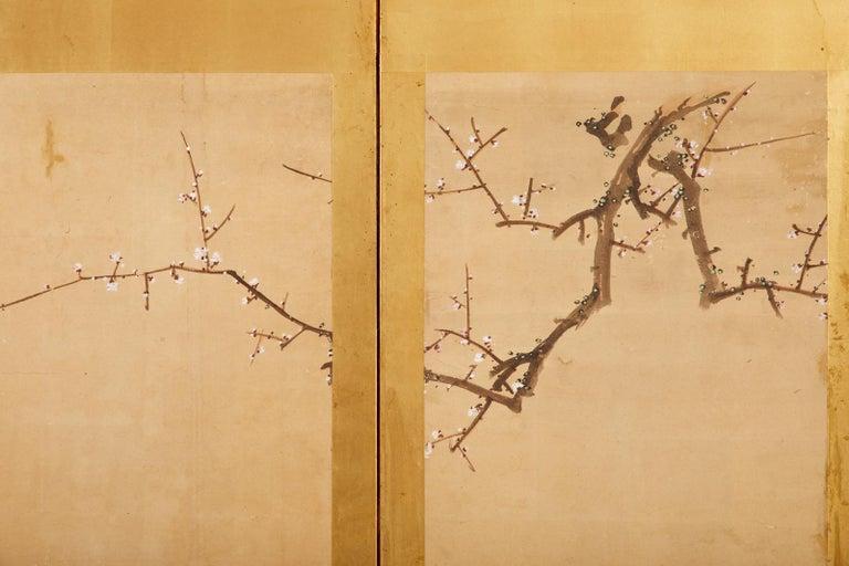 Japanese Edo Six Panel Screen Yoshitsune and Benkei For Sale 11