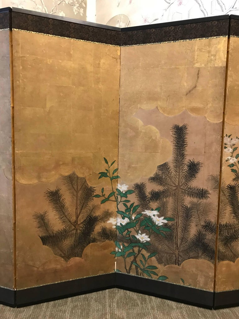 Japanese Eight Fold Screen with Bamboo In Good Condition For Sale In New York, NY