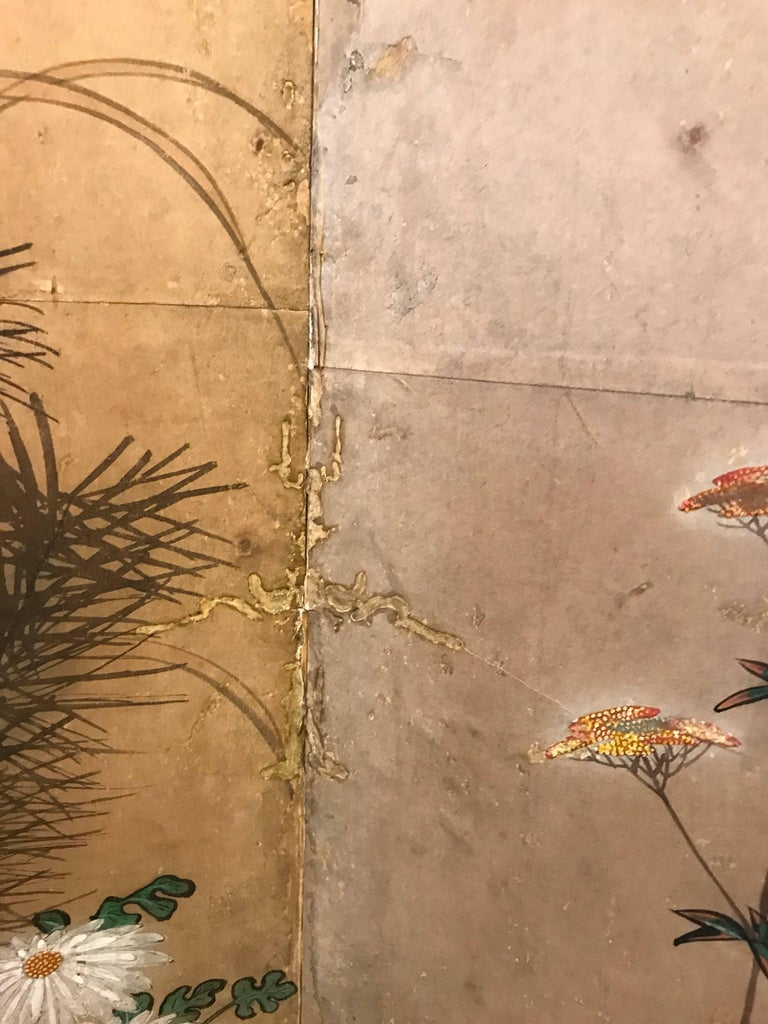 Japanese Eight Fold Screen with Bamboo For Sale 2