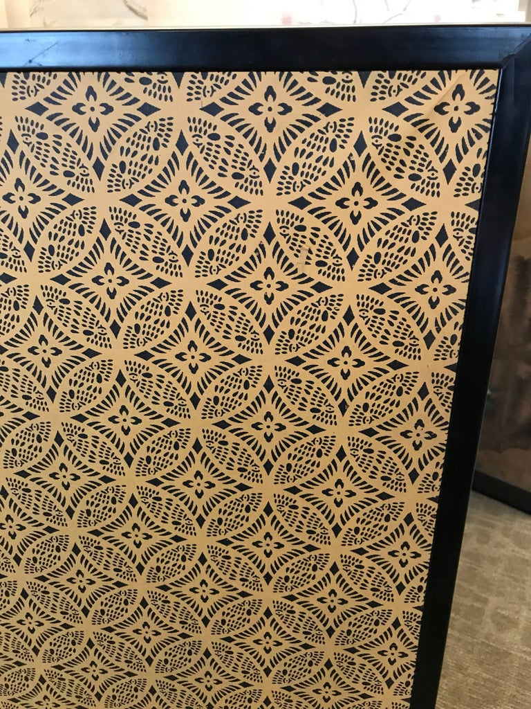 Japanese Eight Fold Screen with Bamboo For Sale 3