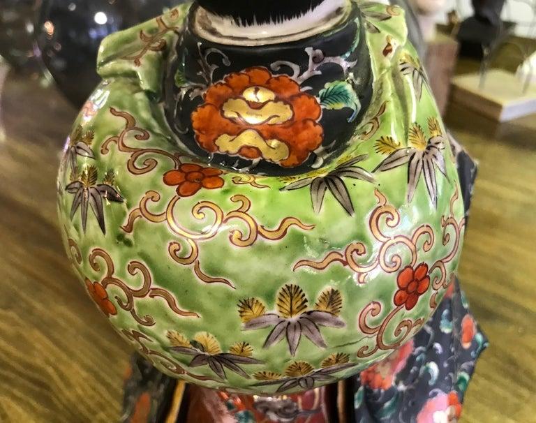 Japanese Exquisite Large Kutani Ware Porcelain Figure of Boy Late 1800s Meiji 5