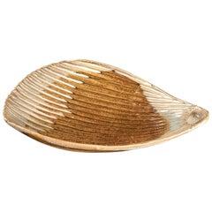 "Japanese Extraordinary Antique Hand Glazed ""Sea Shell"" Serving Bowl"