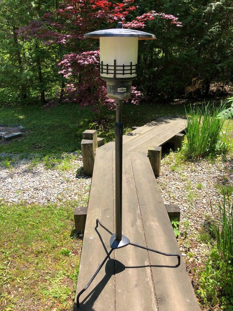 Japanese Extraordinary Tall Garden Lamp Light Fixture, 1950s Midcentury Prairie For Sale 5