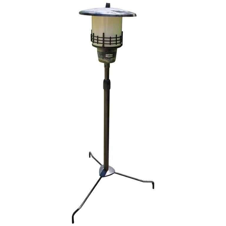 Japanese Extraordinary Tall Garden Lamp Light Fixture, 1950s Midcentury Prairie For Sale