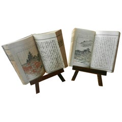Japanese Famous Kyoto Guide Books Complete Antique 1895 Set Two Guide Books