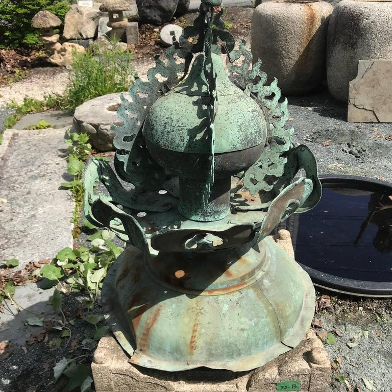 Japanese Fine 250 Year Old Cast Bronze Garden Ornament Exquisite Details, 31