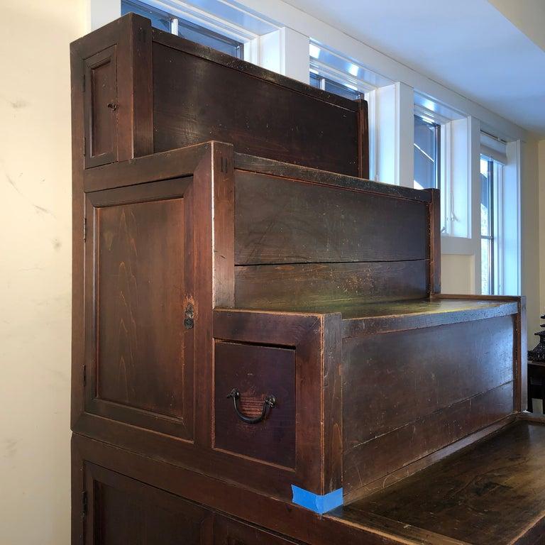 Japanese Fine Antique Cabinet Step Tansu, Meiji Period, 1870s-1890s, Fab Storage For Sale 4