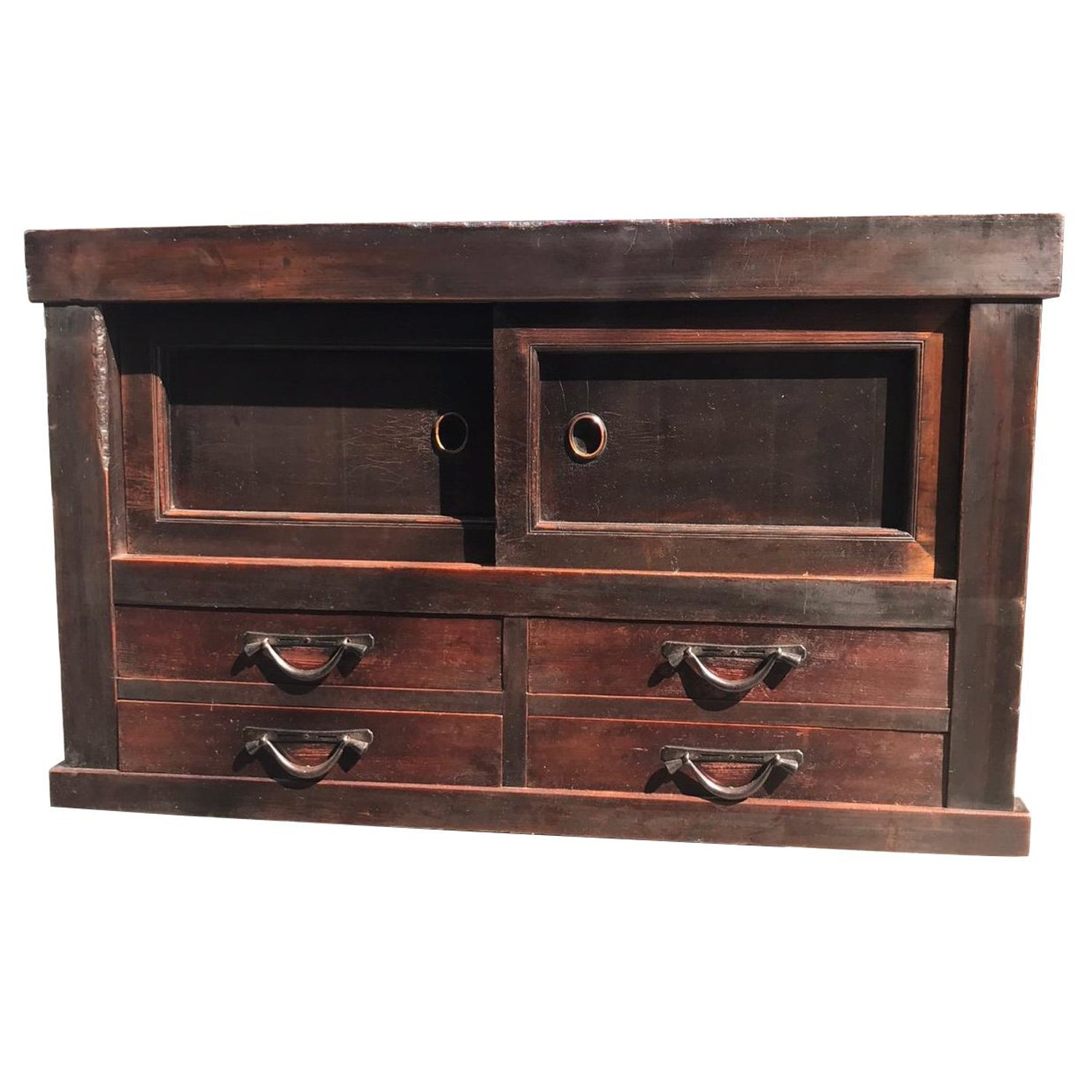 Japanese fine antique handcrafted wood storage cabinet chest 100 original for sale at 1stdibs