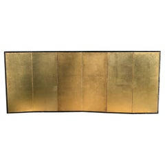 Japanese Fine Antique Rich Gold Leaf Screen, Perfect for Small Spaces, 100 Years