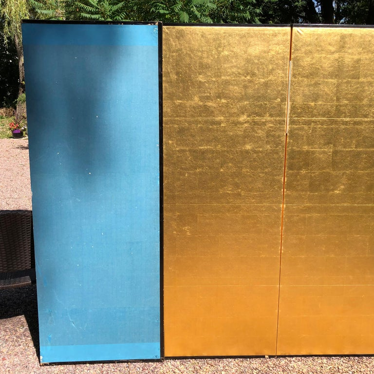 Japanese Fine Antique Stunning Gold Leaf Screen 3