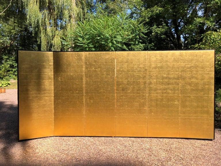 Japanese Fine Antique Stunning Gold Leaf Screen 6