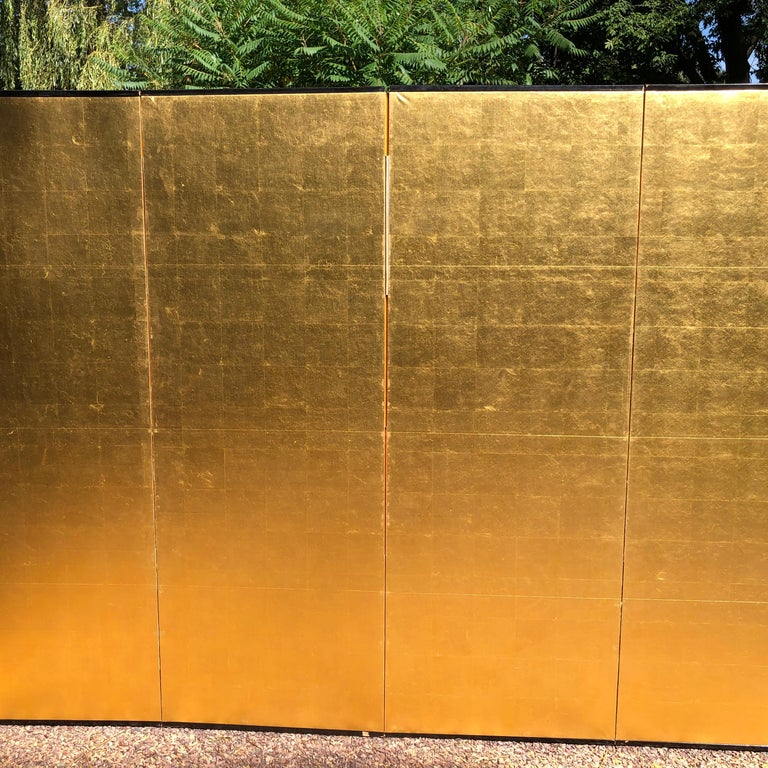 20th Century Japanese Fine Antique Stunning Gold Leaf Screen