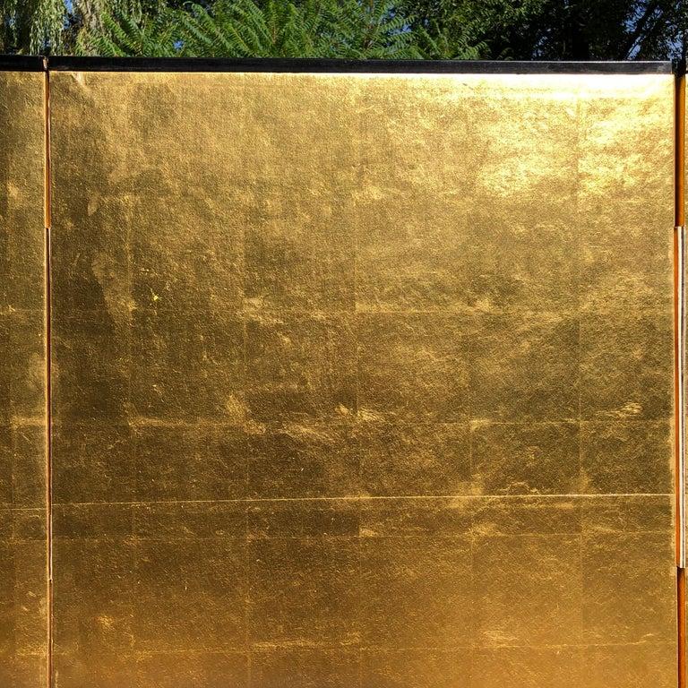 Japanese Fine Antique Stunning Gold Leaf Screen 1