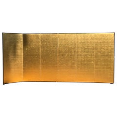 Japanese Fine Antique Stunning Gold Leaf Screen