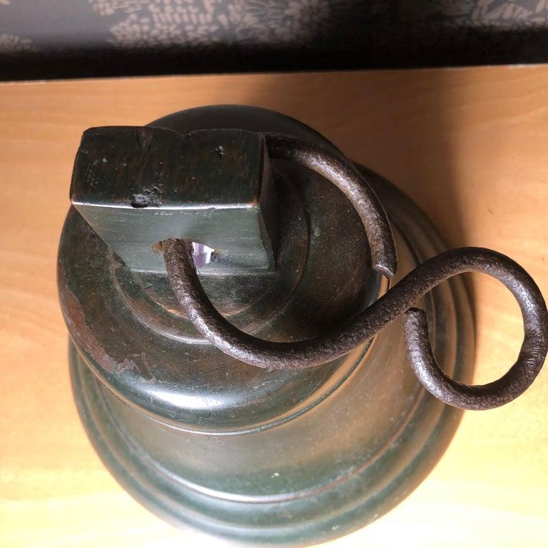 Japanese Fine Bronze Ships Bell 1924, Fine Patina, Bold Sound & Signed For Sale 1
