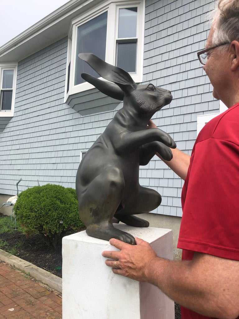 Coming from a collection of rabbit usagi sculptures, largest we have seen