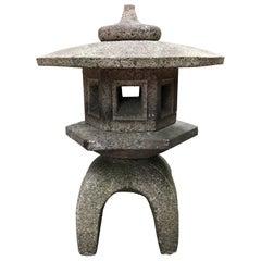 "Japanese Fine Small Antique Lantern ""Yukimi"" Hand Carved Tea Garden Delight"