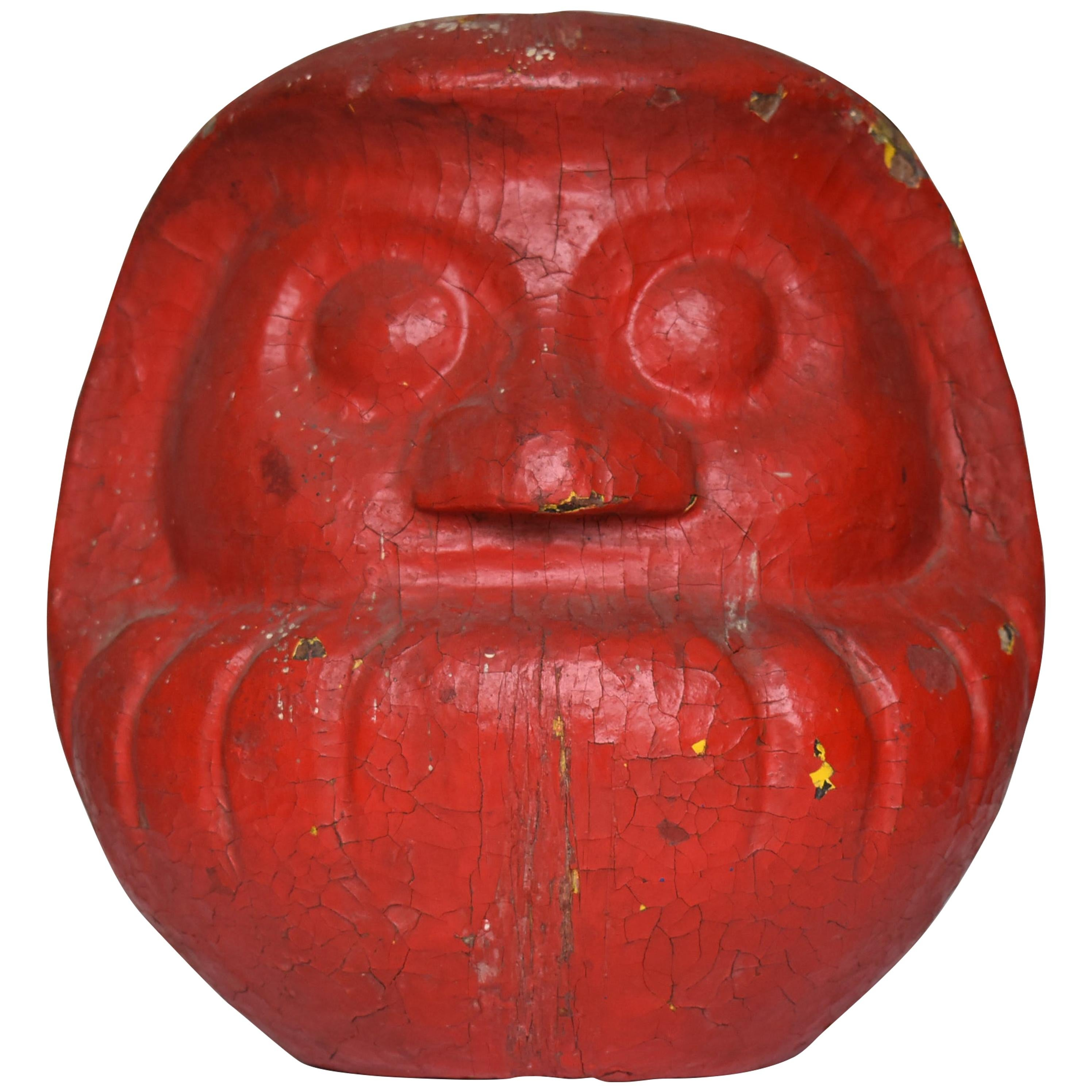 Japanese Folk Art Old Pottery Daruma 1920s-1940s / Contemporary Art Figurine