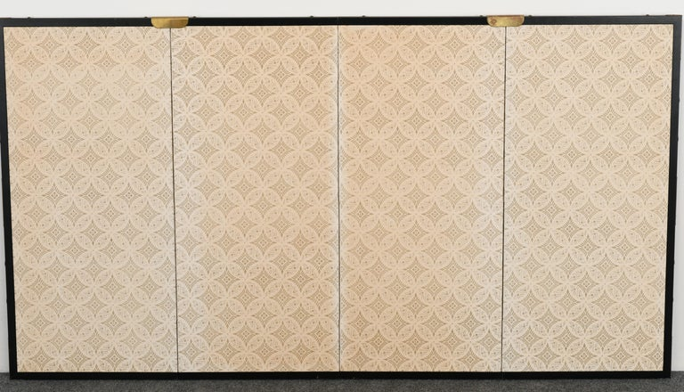 Japanese Four-Panel Screen, 20th Century For Sale 2