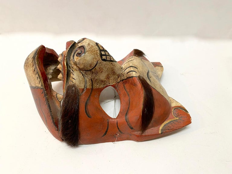 Japonisme Japanese Fox Mask, Early 20th Century For Sale