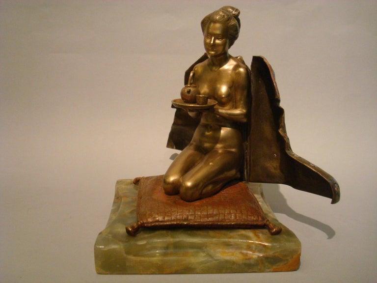 Japanese Geisha Bronze Metamorphic Erotic Figure, Made in Austria by F. Bergmann For Sale 6