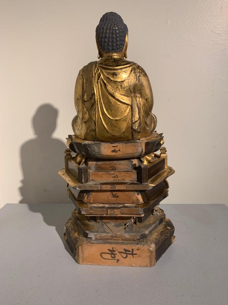 Rock Crystal Japanese Giltwood Medicine Buddha, Yakushi Nyorai, Edo Period, Late 18th Century For Sale