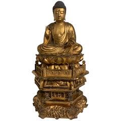 Japanese Giltwood Medicine Buddha, Yakushi Nyorai, Edo Period, Late 18th Century