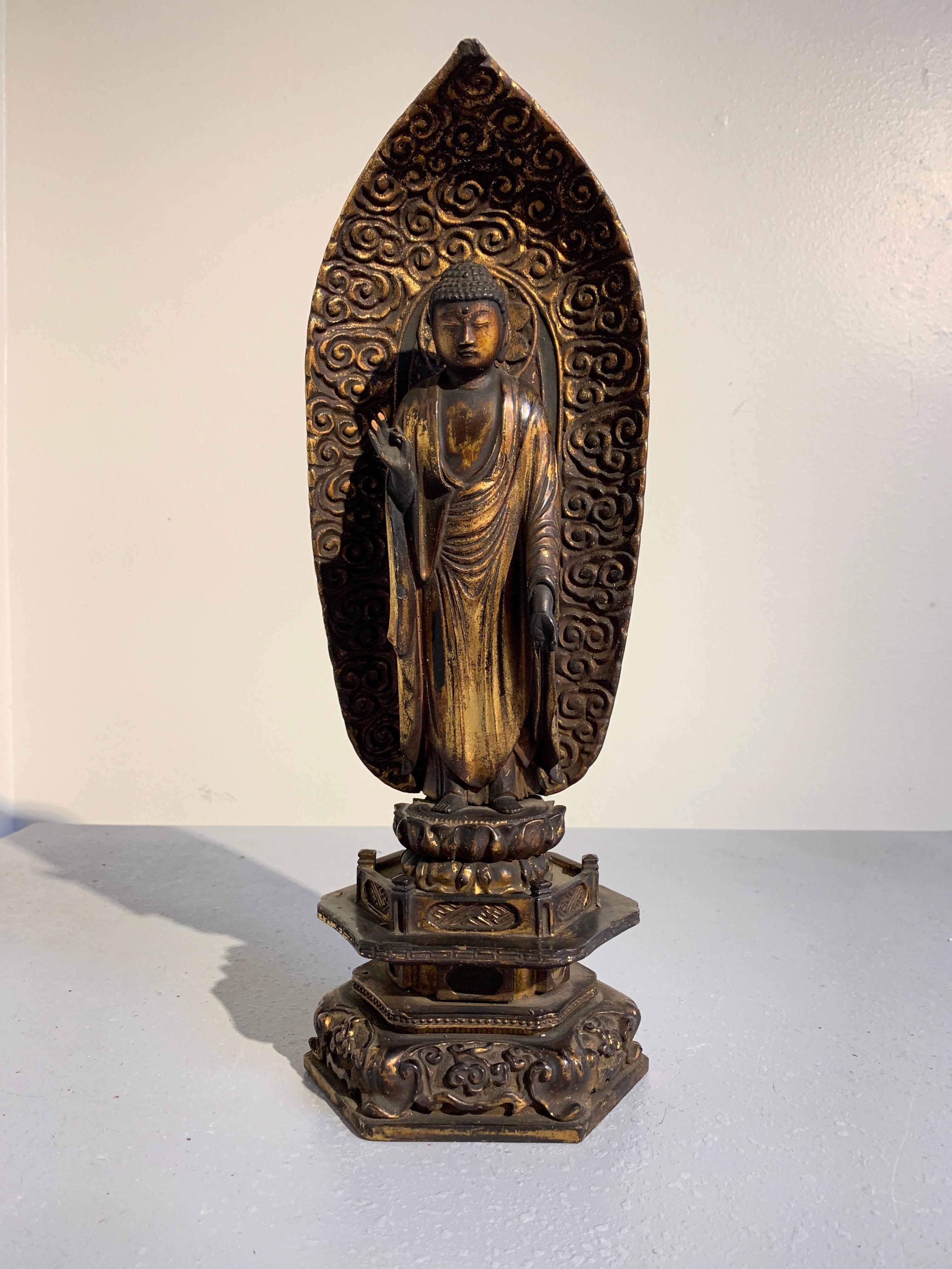 Asiatika: Indien & Himalaya Antiquitäten & Kunst Antik Japanische Paar Geschnitztem Holz Bemalten Figuren Statuen Buddhist Nio