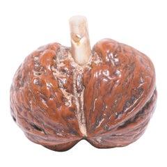 Japanese Gourd-Form Walnut Netsuke Charm