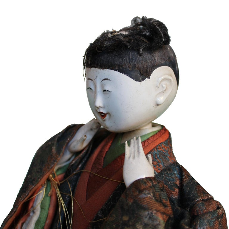 Late 19th Century Japanese Handcrafted Musician For Sale