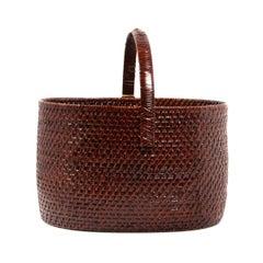 Japanese Handled Woven Basket from Takashimaya
