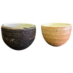 Japanese Handmade Ceramic Pottery Textured Tea Ceremony Cup