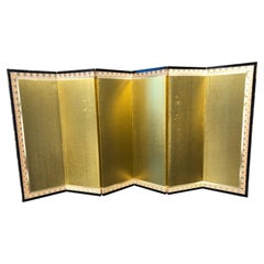 Japanese Handsome Small, Simple Gold Screen