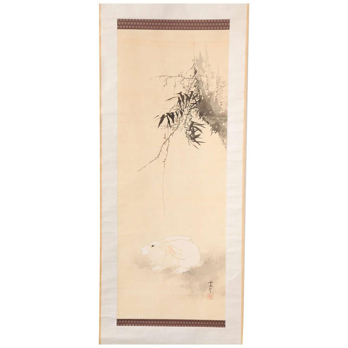 Japanese Hanging Scroll, Late 19th Century