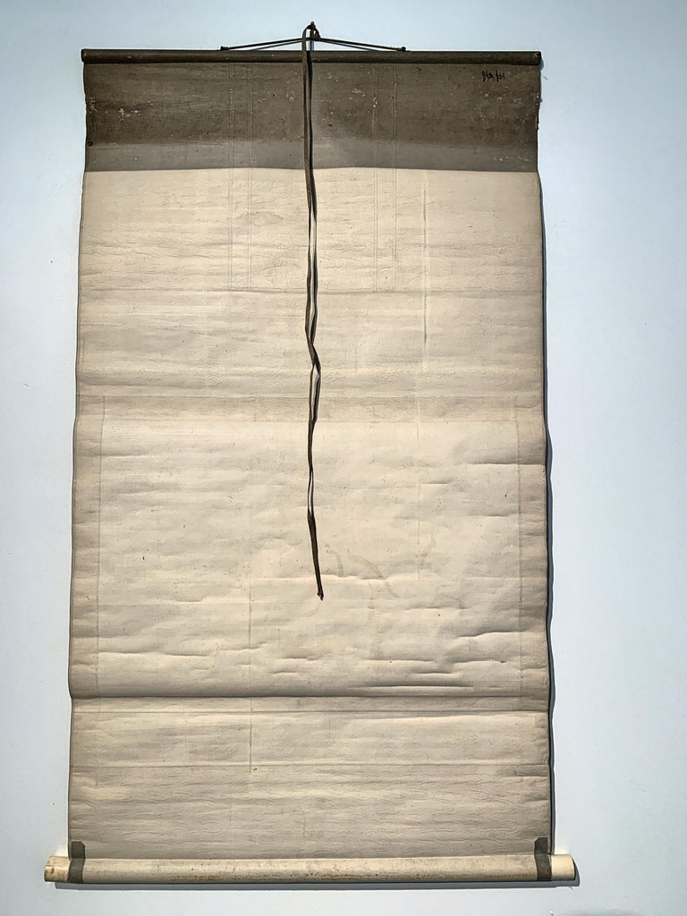Paper Japanese Hanging Scroll, Taoist Scholar and Student, by Gogaku, 18th Century For Sale