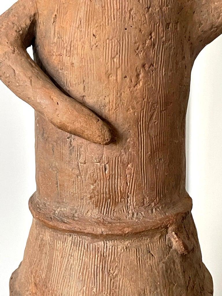 Japanese Haniwa Burial Pottery Figure Kofun Period For Sale 2