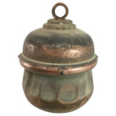 "Japanese Huge Antique ""Hand Hammered"" Shinto Temple Bell, Shrine Deaccession"