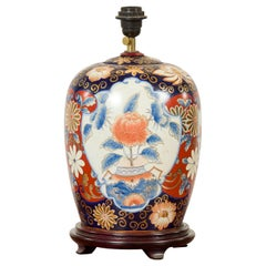 Japanese Imari 20th Century Ceramic Table Lamp with Blue, Red and Gilt Decor