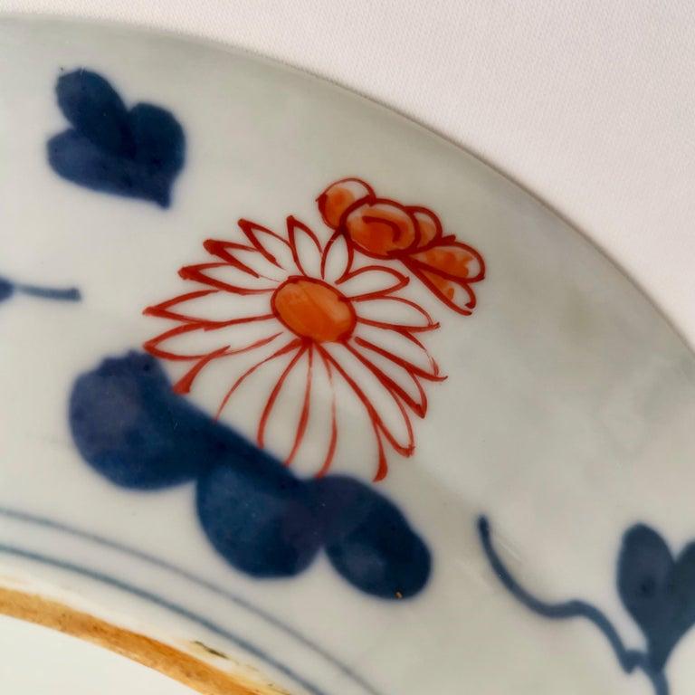 Japanese Imari Porcelain Plate with Dragon, Lions, Cranes, 17th C, Edo 1680-1700 For Sale 7