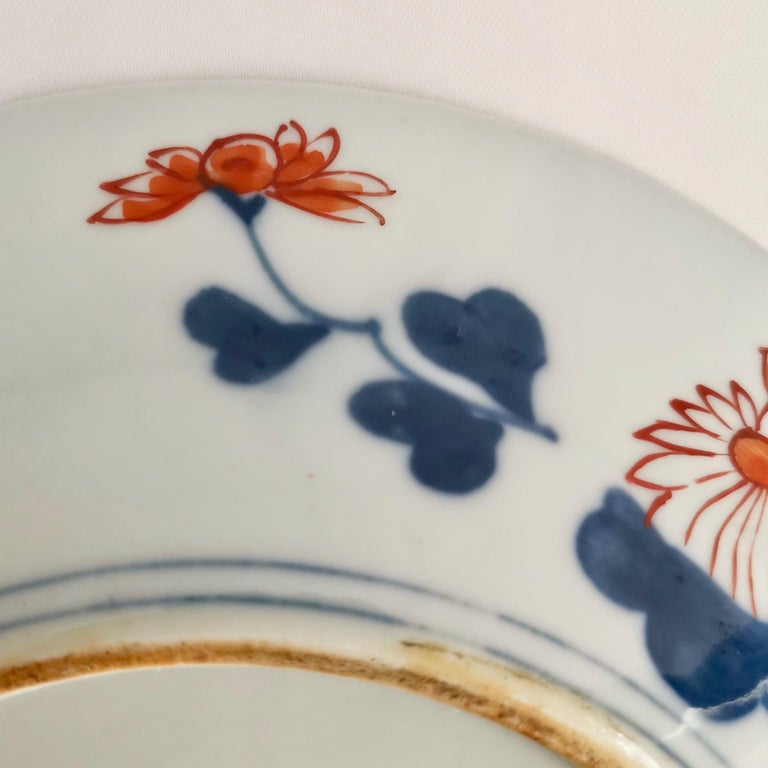 Japanese Imari Porcelain Plate with Dragon, Lions, Cranes, 17th C, Edo 1680-1700 For Sale 9