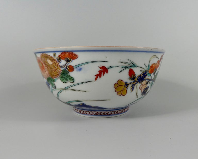 Edo Japanese 'Imari' Porcelain Bowl, Arita, circa 1700, Genroku Period For Sale