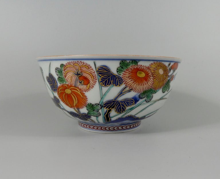 Fired Japanese 'Imari' Porcelain Bowl, Arita, circa 1700, Genroku Period For Sale