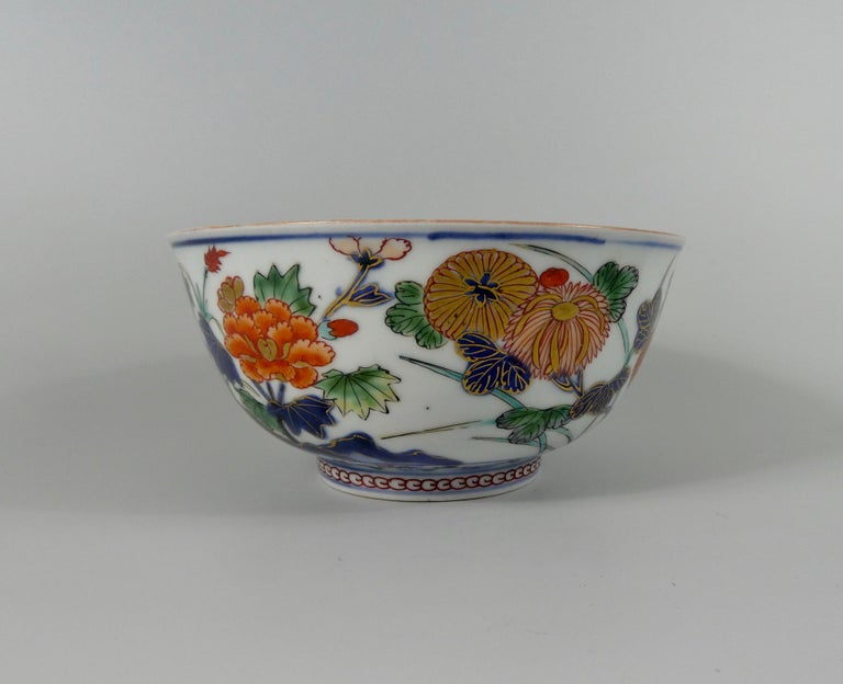 Japanese 'Imari' Porcelain Bowl, Arita, circa 1700, Genroku Period In Good Condition For Sale In Gargrave, North Yorkshire