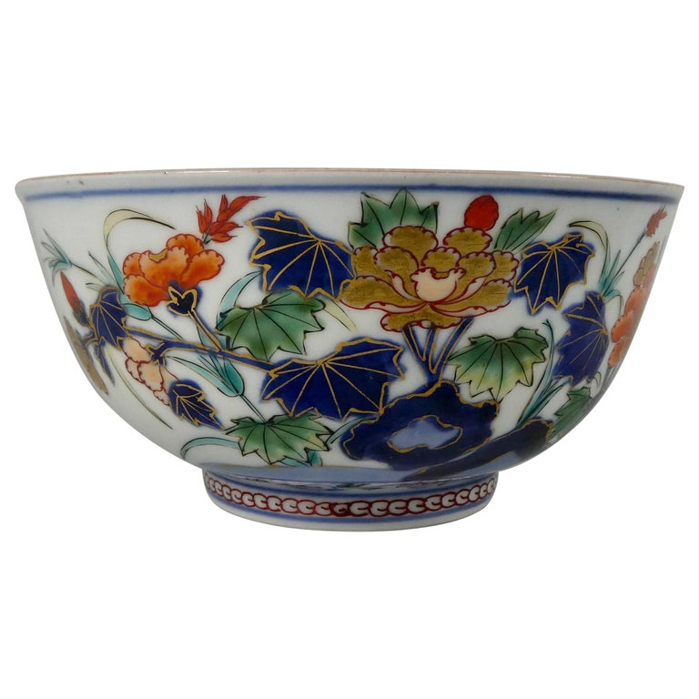 Japanese 'Imari' Porcelain Bowl, Arita, circa 1700, Genroku Period For Sale