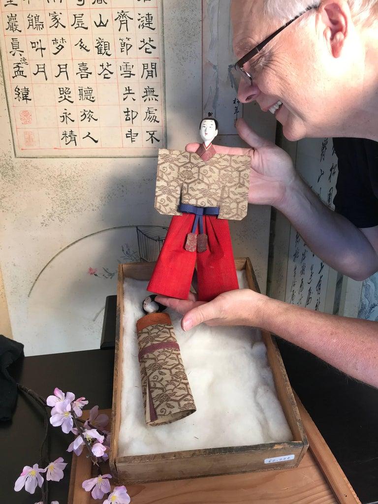Edo Japanese Imperial Pair Dolls 1840 For Sale